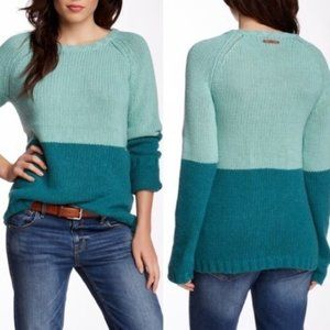 Trovata Nordstrom Colorblock Chunky Blue Sweater